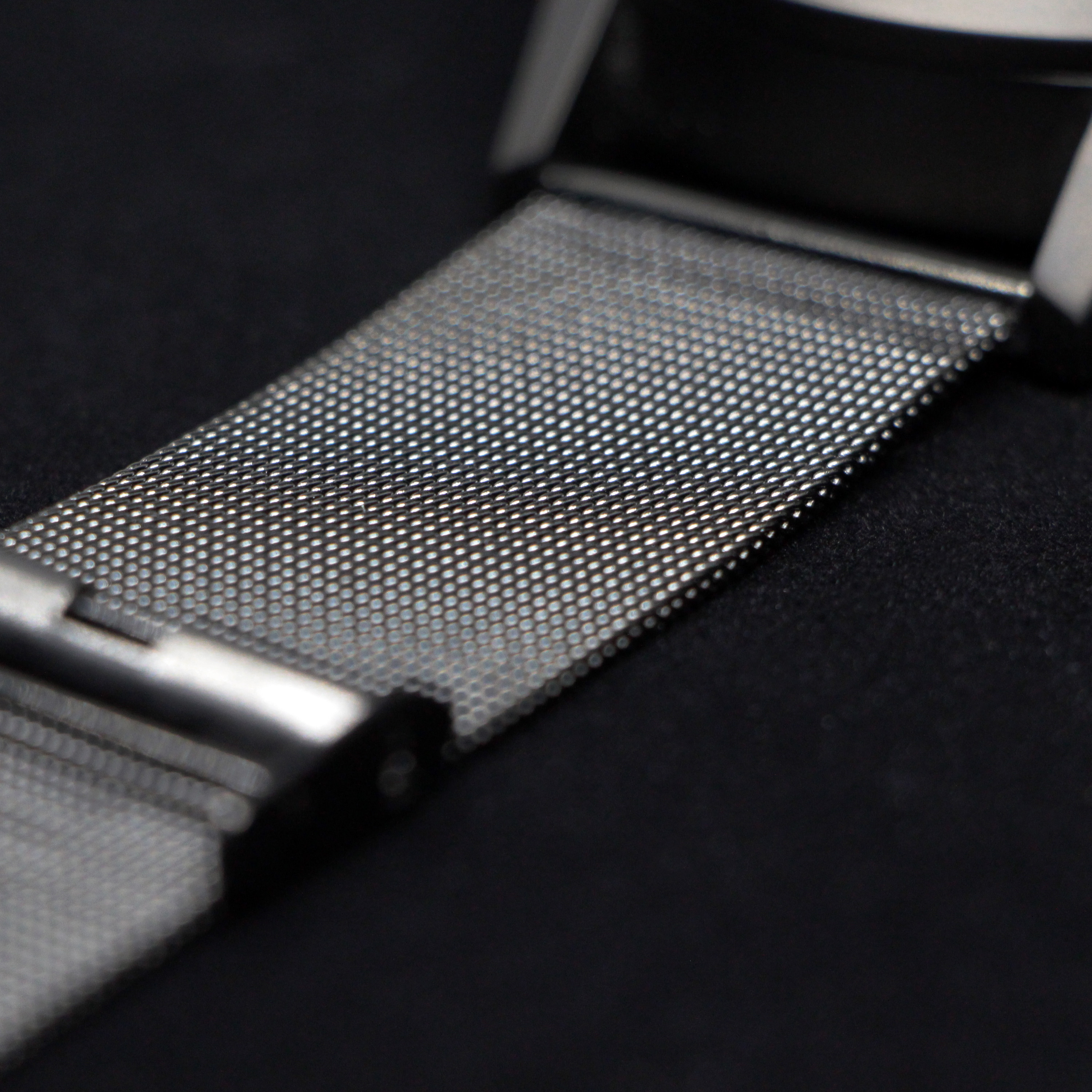 Metal mesh wristband (one of the two wristbands included with the Type 77.TIME)