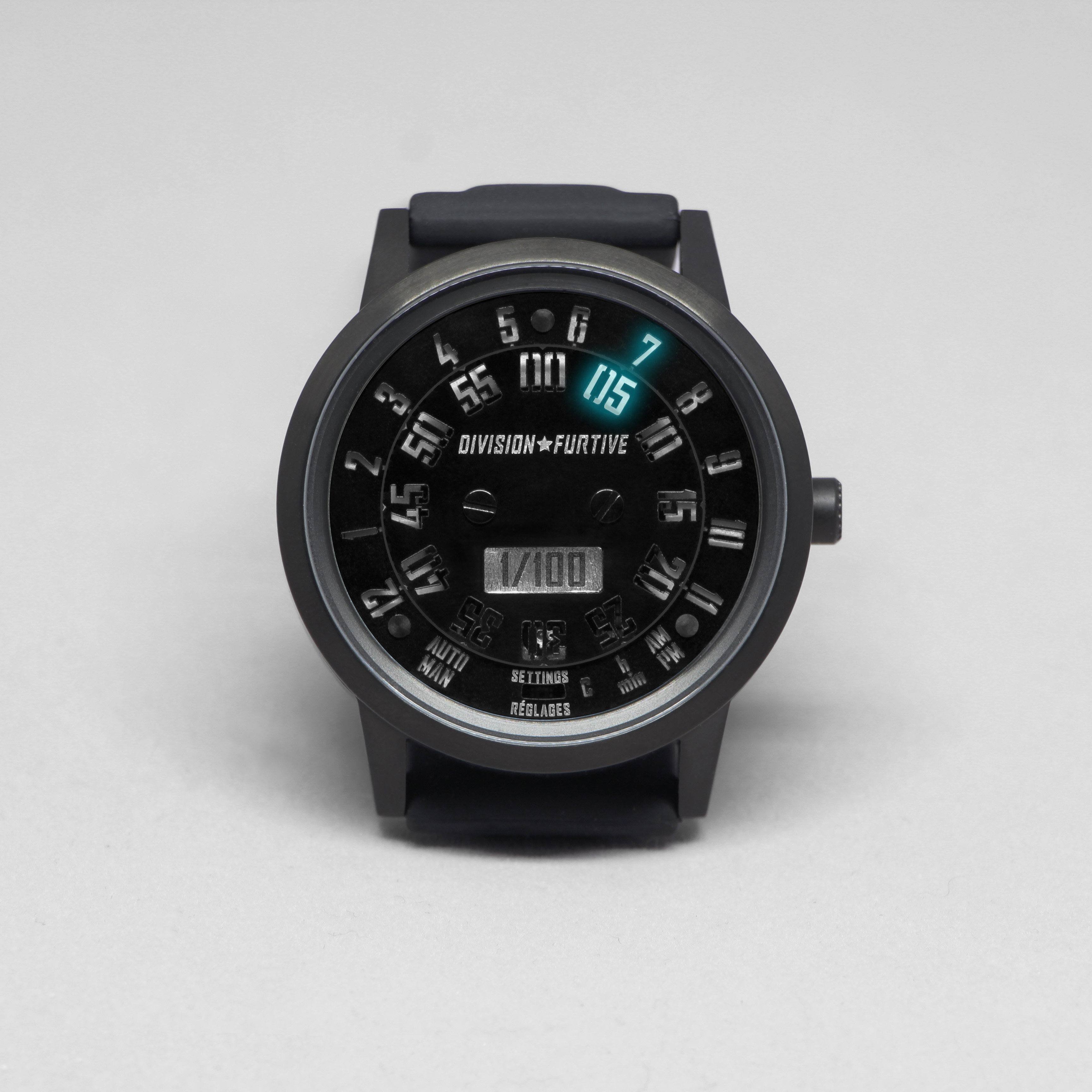 Type 77.TIME Brushed Titanium with Black PVD