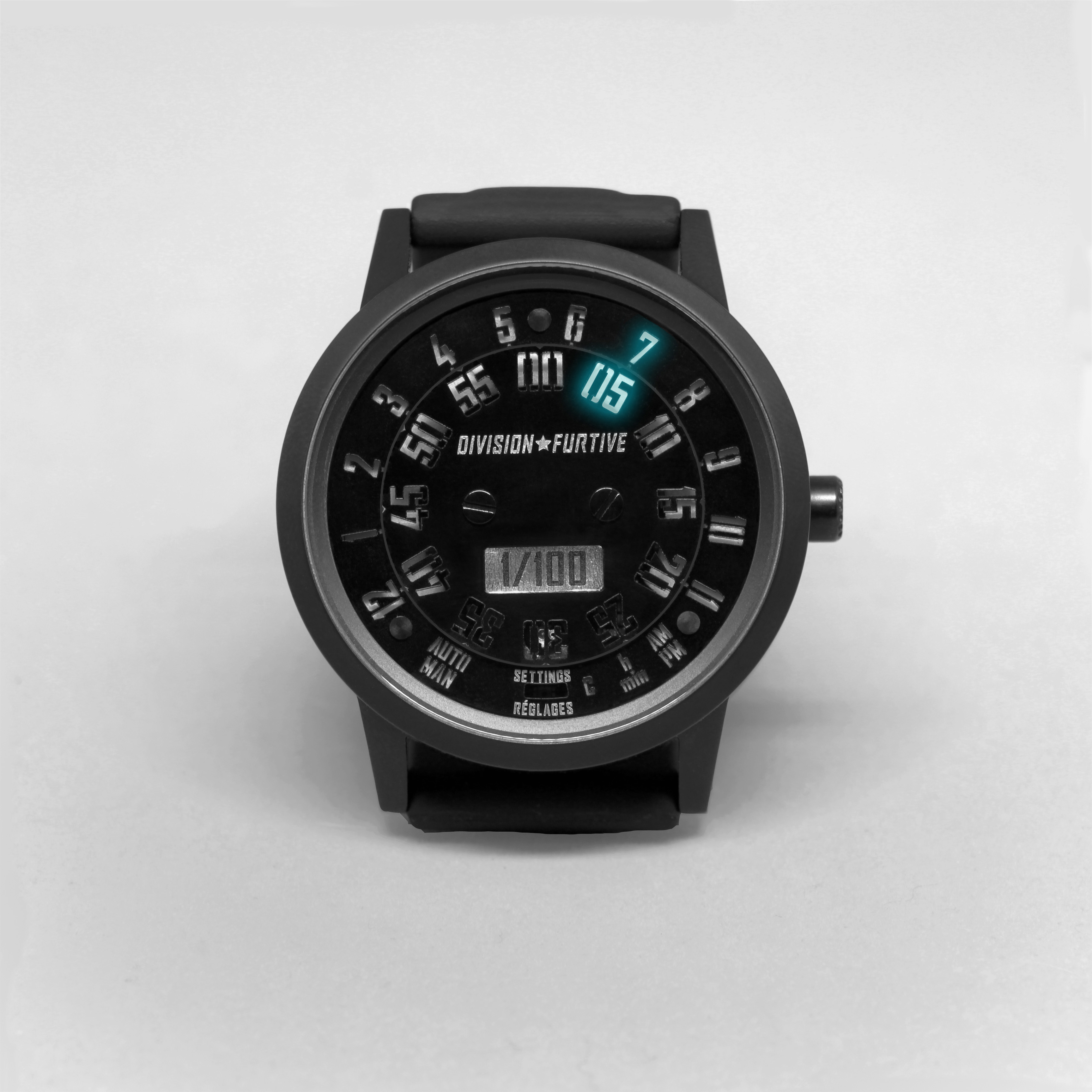 Type 77.TIME Matte Titanium with Black PVD
