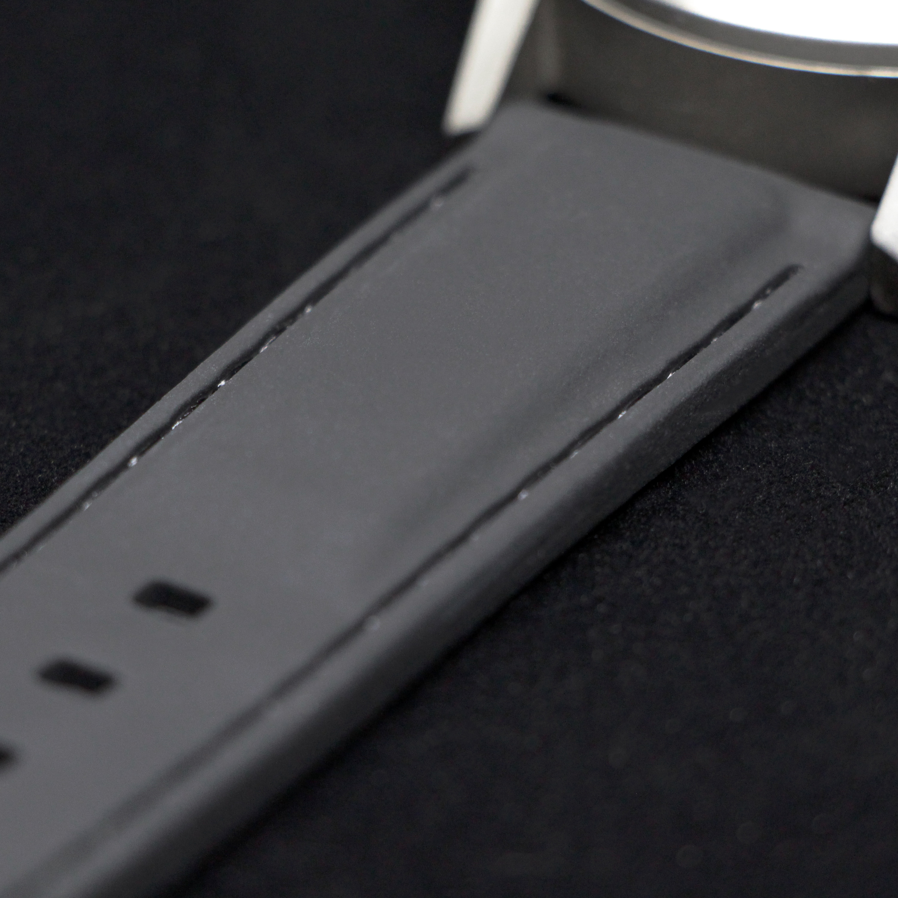 Ultra-smooth silicone wristband (one of the two wristbands included with the Type 77.TIME)